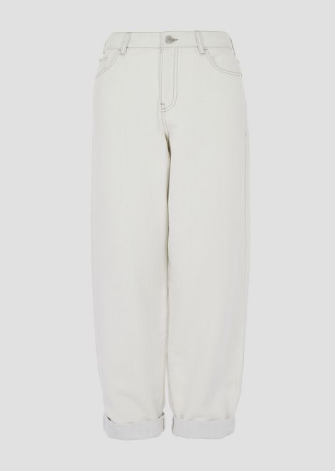Jeans J89 relaxed fit in bull lurex con fondo effetto gesso