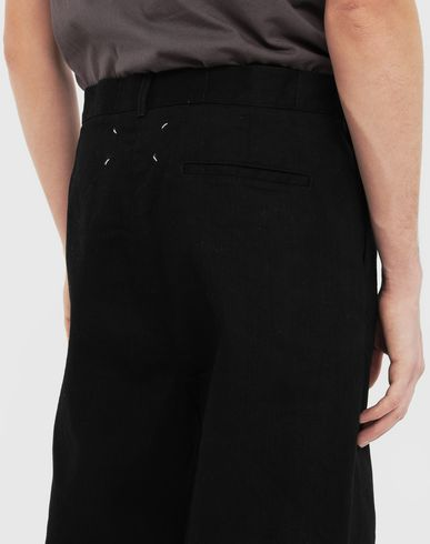 TROUSERS Puckered straight-leg  trousers Black
