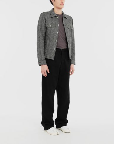 PANTS Puckered straight-leg  trousers Black