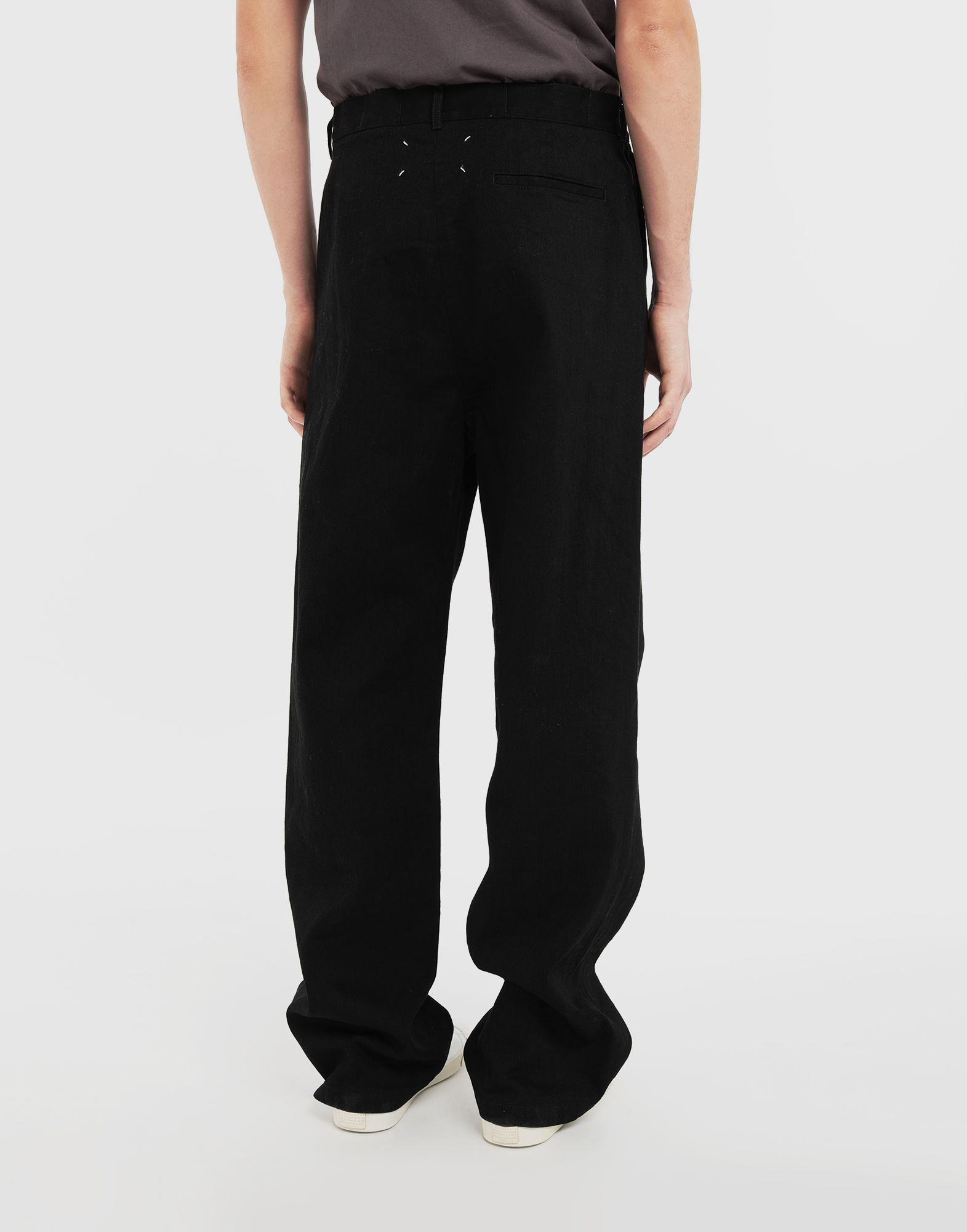 MAISON MARGIELA Puckered straight-leg  trousers Casual pants Man e