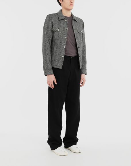 MAISON MARGIELA Puckered straight-leg  trousers Casual pants Man d