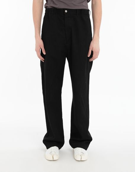 MAISON MARGIELA Puckered straight-leg  trousers Casual pants Man r