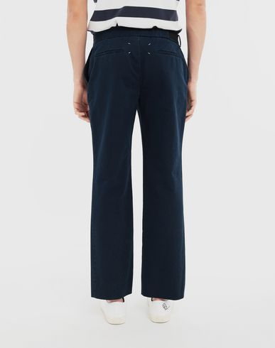 PANTS Side-strap check trousers Blue