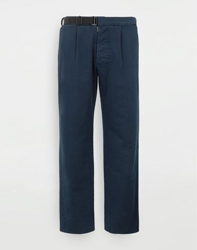 TROUSERS Side-strap check trousers Blue