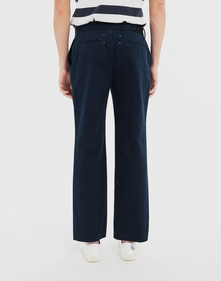 MAISON MARGIELA Side-strap check trousers Casual pants Man e