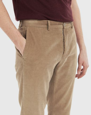 TROUSERS Corduroy trousers Beige