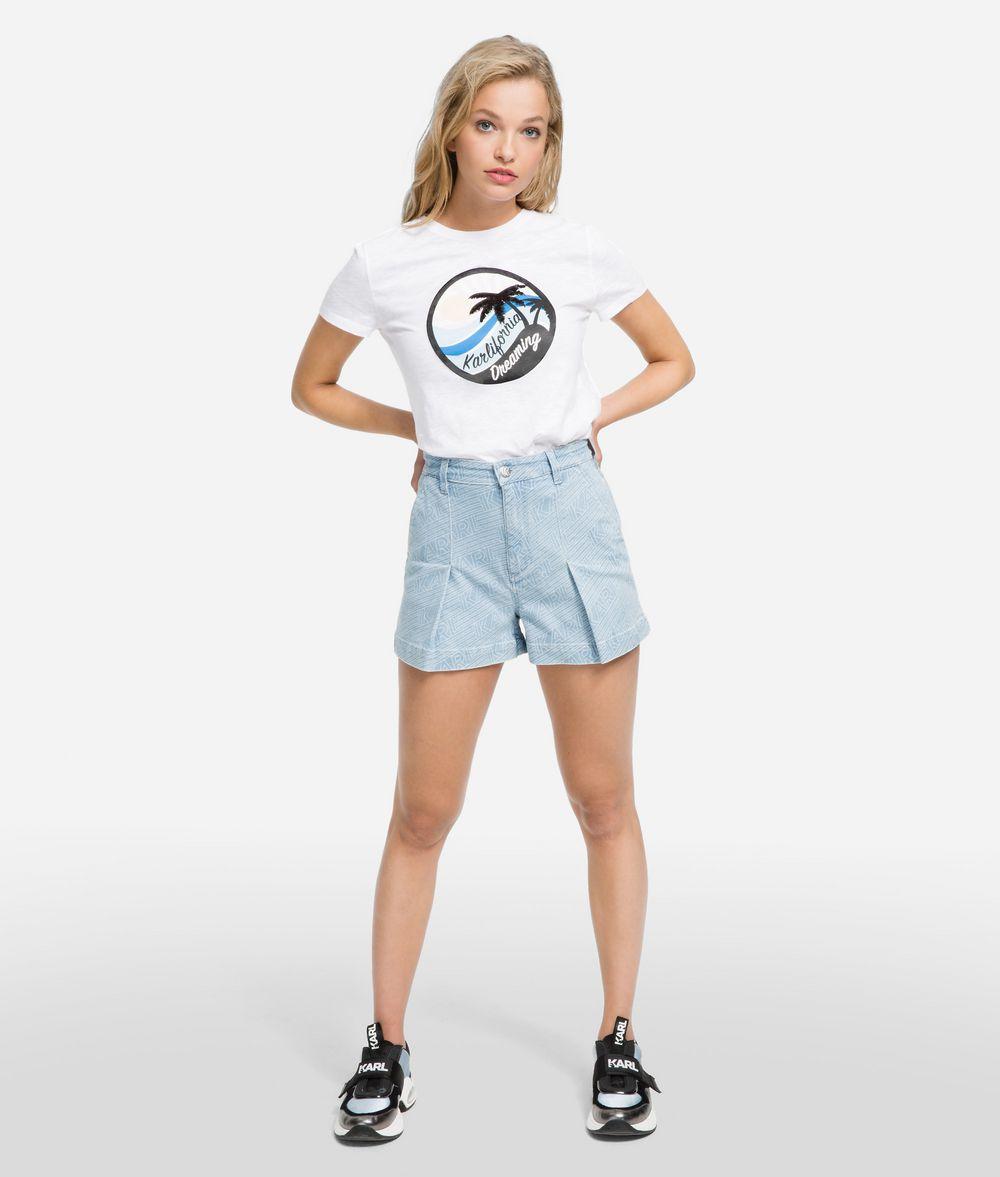 KARL LAGERFELD K/Karlifornia Denim Shorts Shorts Woman f