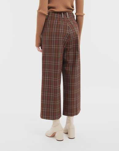 TROUSERS Checked trousers Brown