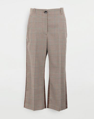 MM6 MAISON MARGIELA Checked trousers Trousers Woman f