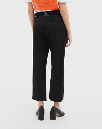 TROUSERS Trousers with belt Black