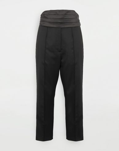 MM6 MAISON MARGIELA Trousers with belt Casual pants Woman f
