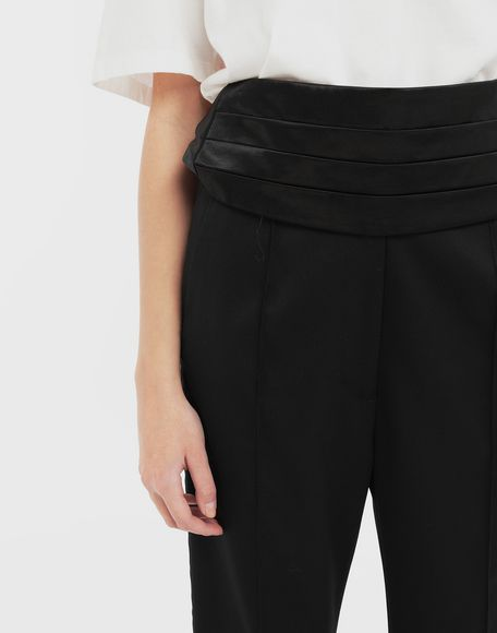 MM6 MAISON MARGIELA Trousers with belt Trousers Woman a