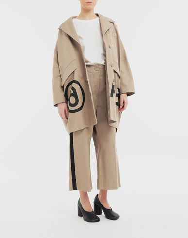 TROUSERS Contrast stripe trousers Beige