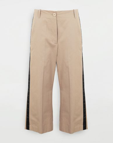 Contrast stripe trousers