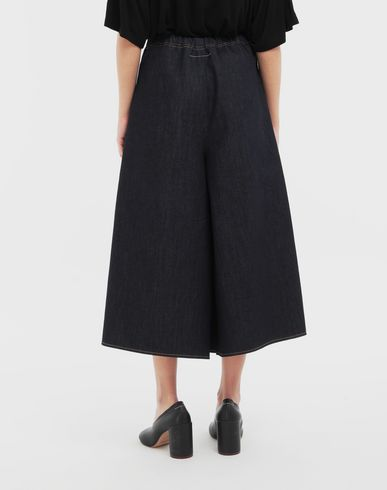TROUSERS Pleated denim trousers Blue