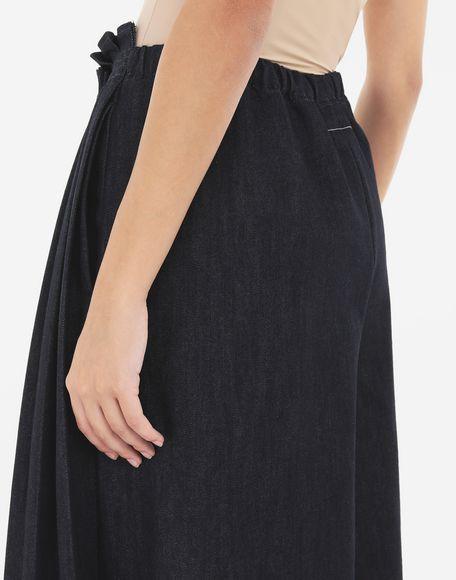 MM6 MAISON MARGIELA Pleated denim trousers Trousers Woman b