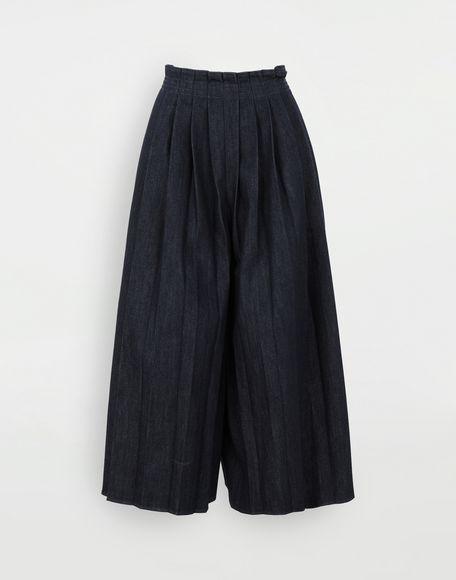 MM6 MAISON MARGIELA Pleated denim trousers Trousers Woman f