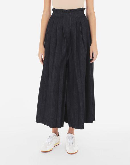 MM6 MAISON MARGIELA Pleated denim trousers Trousers Woman r
