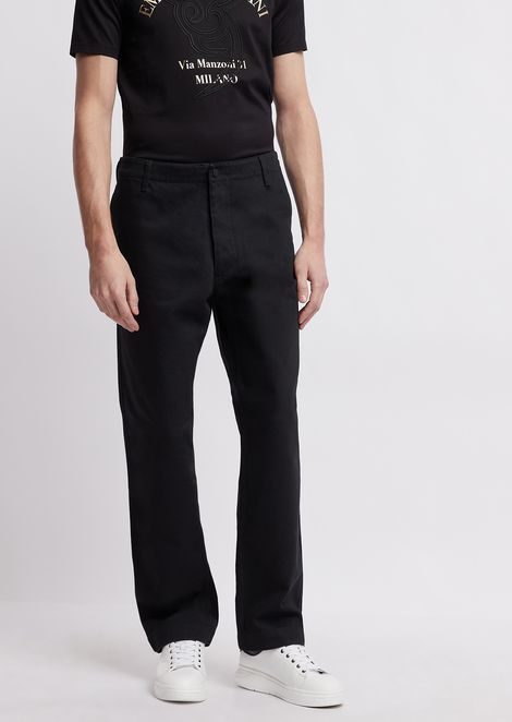 Pantaloni over in bull di cotone