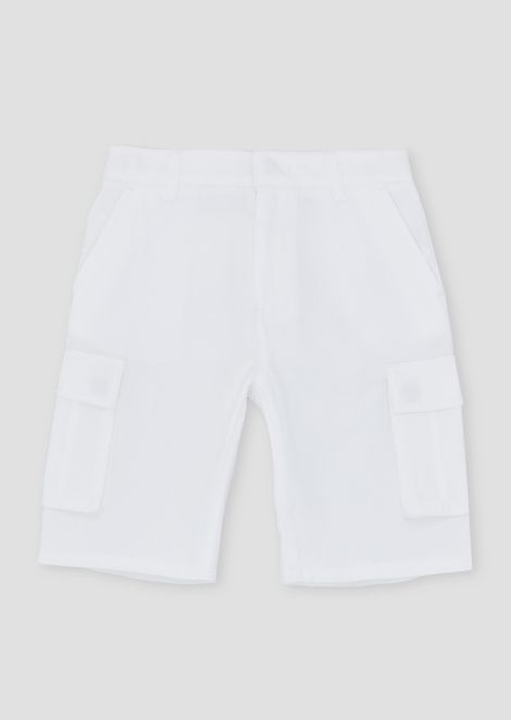Cargo Bermuda shorts in cotton