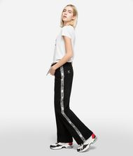 KARL LAGERFELD Sporty Logo Denim Pants Woman d