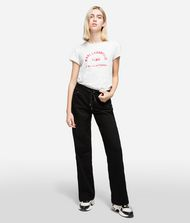 KARL LAGERFELD Pants Woman Sporty Logo Denim f