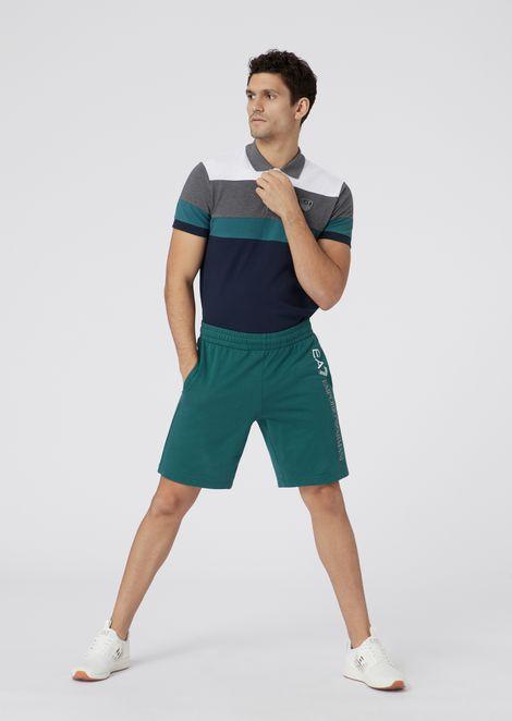 Pantalones cortos Train Core de algodón de felpa bebé