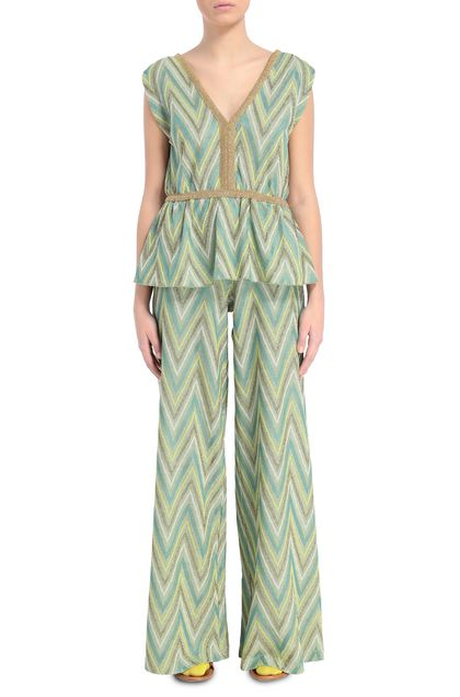 M MISSONI Pants Acid green Woman - Back