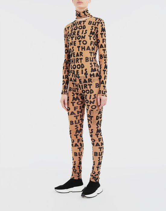 MM6 MAISON MARGIELA Charity AIDS-print leggings Casual pants [*** pickupInStoreShipping_info ***] d