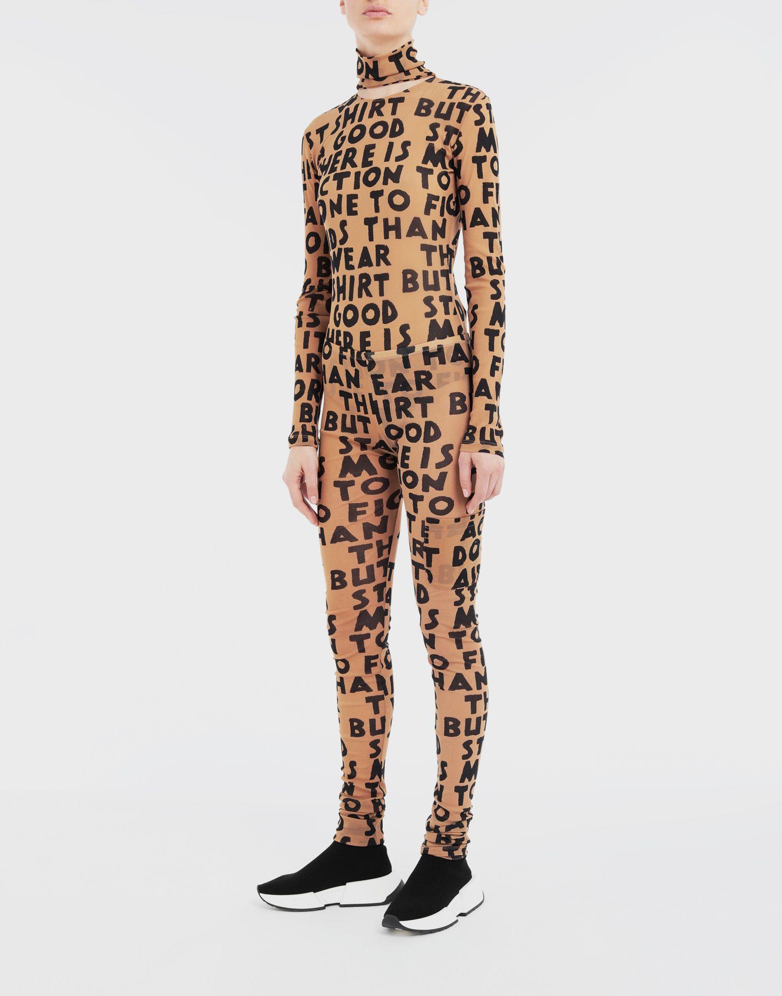 MM6 MAISON MARGIELA Charity AIDS-print leggings Casual pants Woman d
