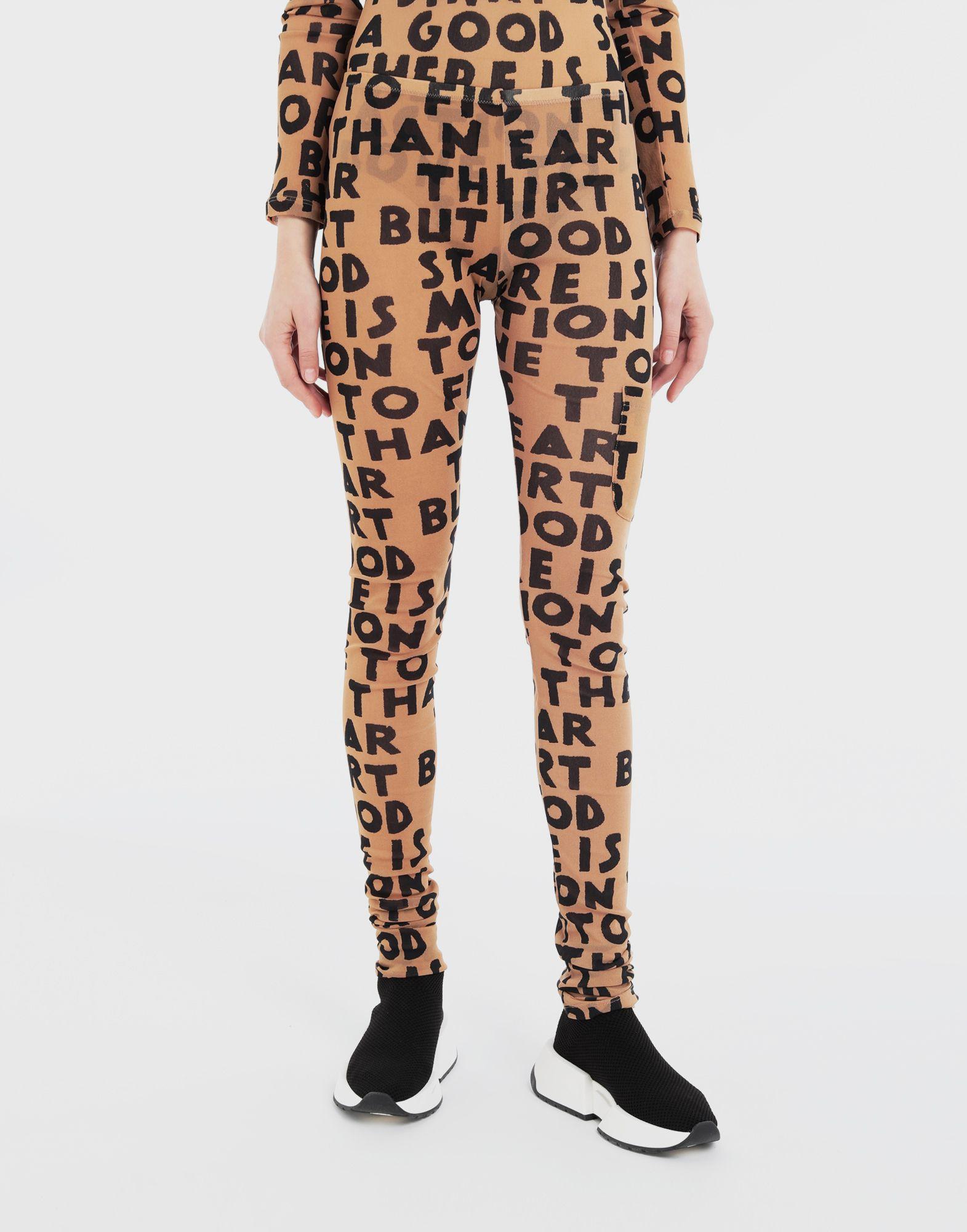 MM6 MAISON MARGIELA Charity AIDS-print leggings Casual pants Woman r