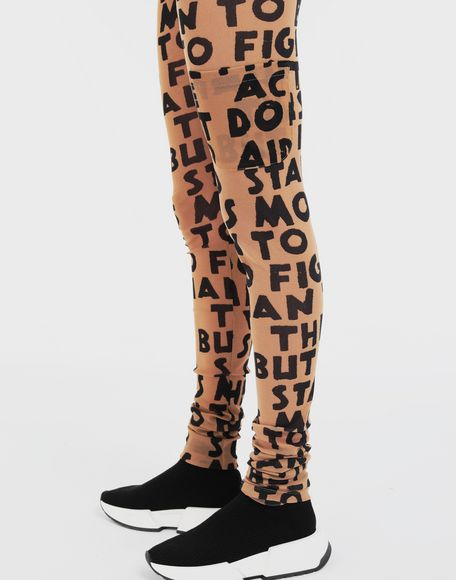 MM6 MAISON MARGIELA Charity AIDS-print leggings Casual pants Woman b