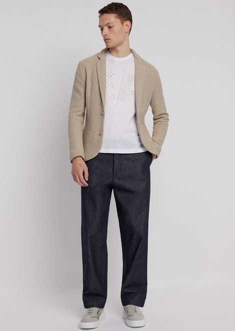 Oversized chino trousers in cotton twill