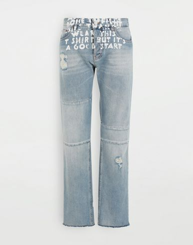 MM6 MAISON MARGIELA Charity AIDS-print denim pants Jeans [*** pickupInStoreShipping_info ***] f
