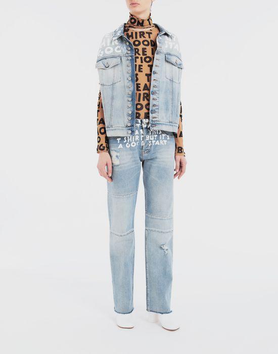 MM6 MAISON MARGIELA Charity AIDS-print denim pants Jeans [*** pickupInStoreShipping_info ***] d