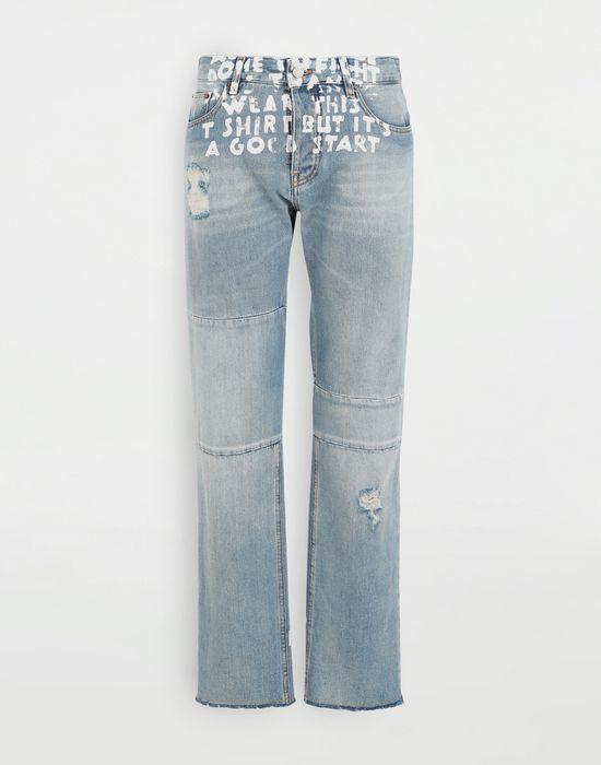 MM6 MAISON MARGIELA Charity AIDS-print denim pants Jeans [*** pickupInStoreShipping_info ***] f