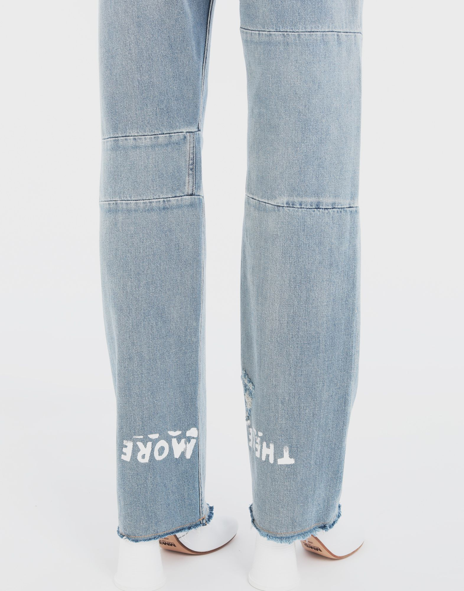 MM6 MAISON MARGIELA Charity AIDS-print denim pants Jeans Woman b