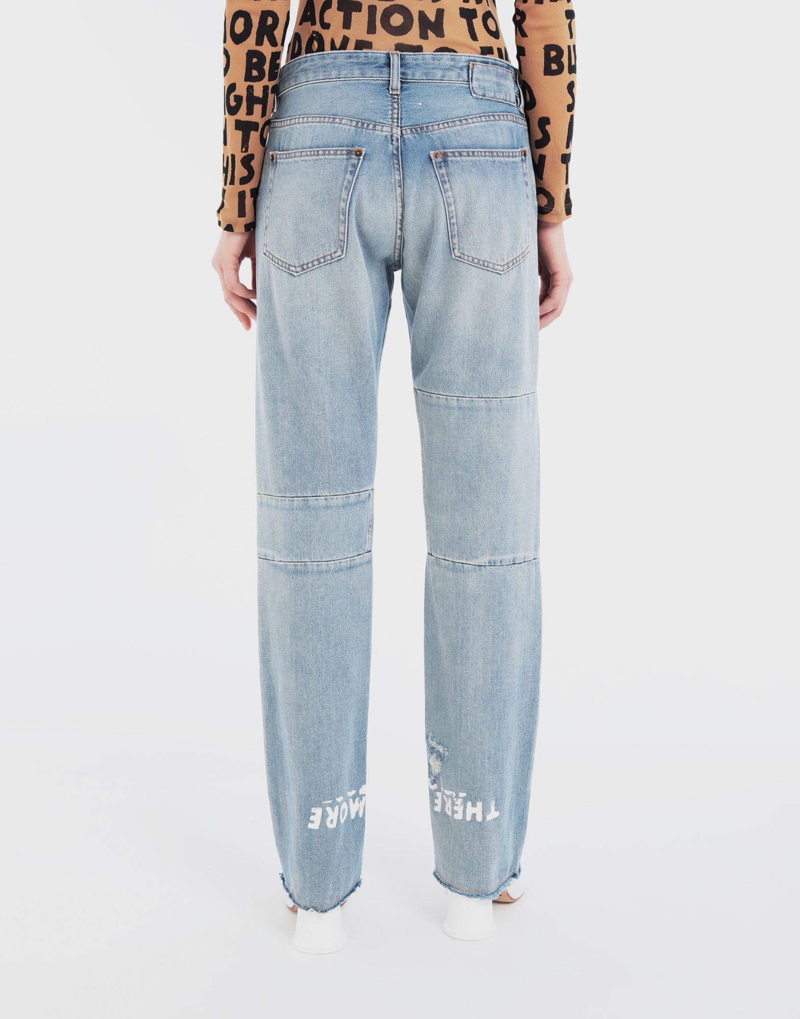 MM6 MAISON MARGIELA Charity AIDS-print denim pants Jeans Woman e