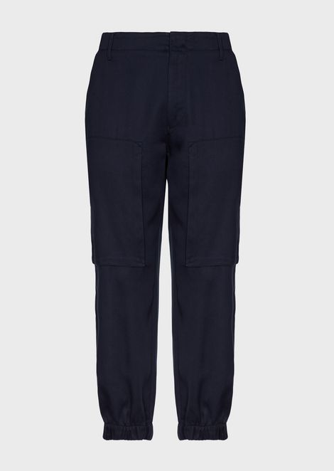 Tencel twill trousers with maxi-pockets