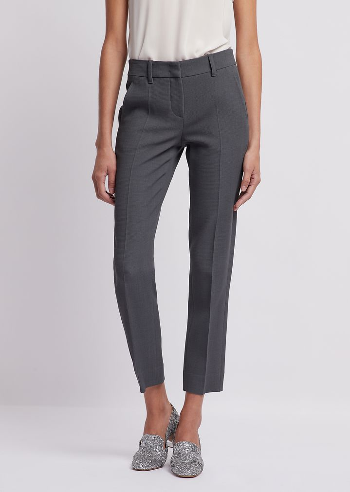 27d5682942 Cropped trousers in textured fabric