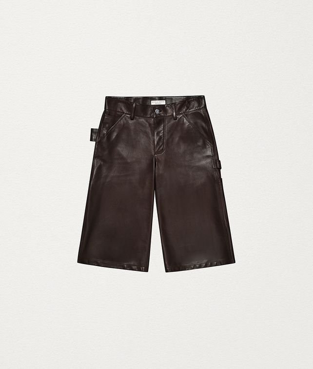 BOTTEGA VENETA SHORTS IN LAMB SATINÉ Trousers and Shorts Woman fp