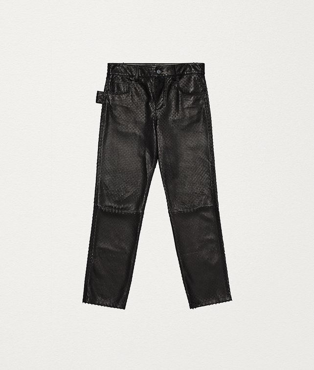 BOTTEGA VENETA TROUSERS IN PUNCHED NAPPA Trousers and Shorts Woman fp
