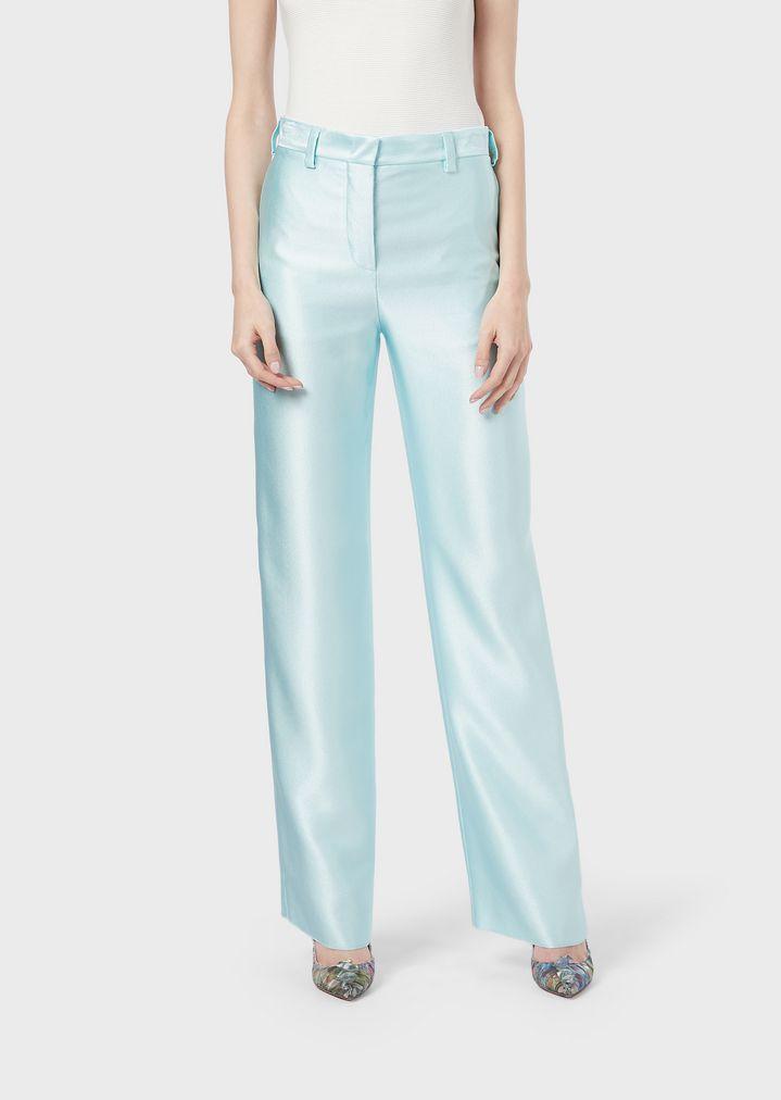 e836de3aa5 Cigarette trousers in silk ottoman