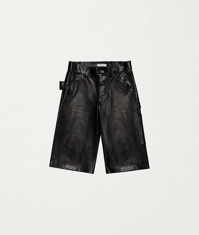 BOTTEGA VENETA SHORTS IN LAMB SATINÉ Trousers and Shorts [*** pickupInStoreShipping_info ***] fp