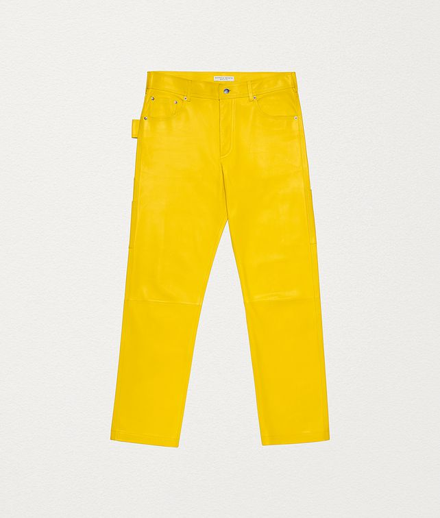 BOTTEGA VENETA TROUSERS IN PLONGÉ NAPPA Trousers and Shorts Man fp