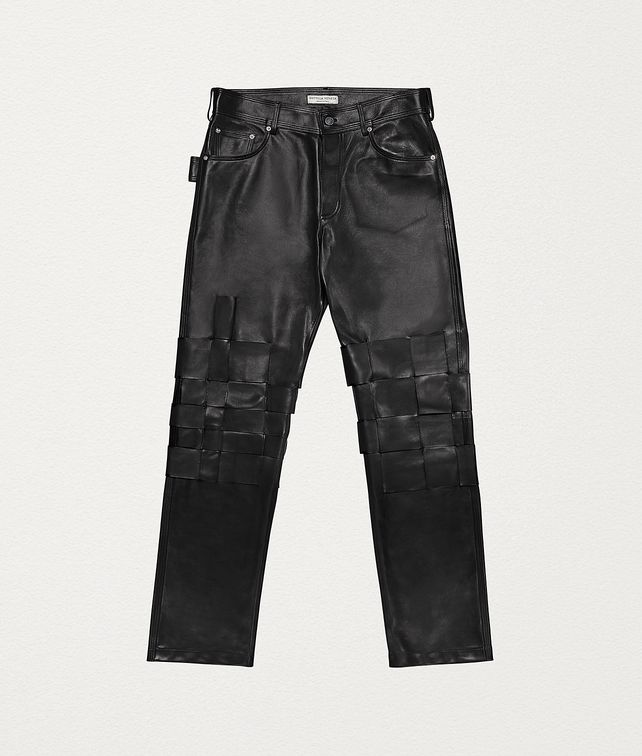 BOTTEGA VENETA TROUSERS IN LAMB SATINÉ Trousers and Shorts Man fp