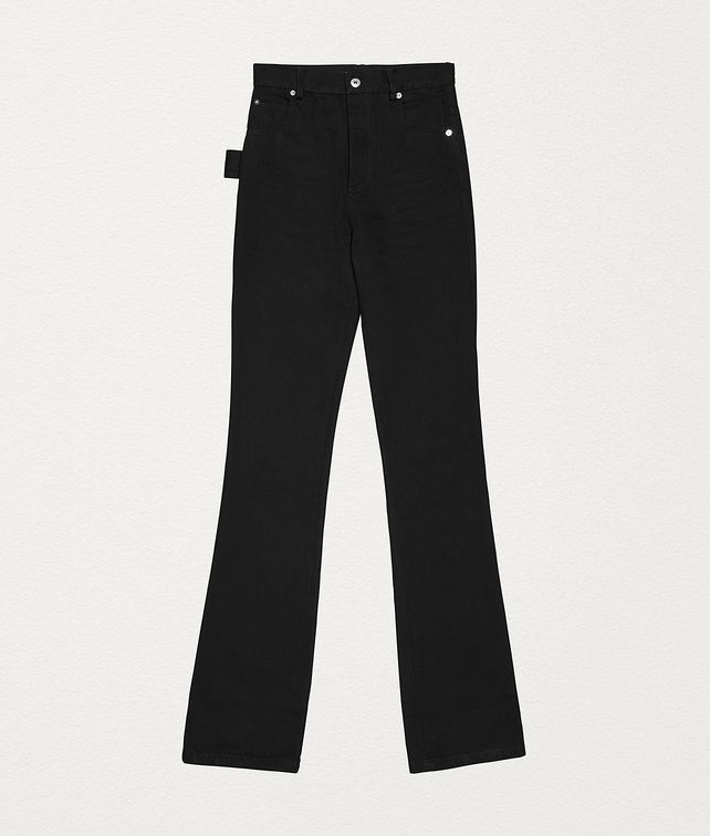 BOTTEGA VENETA TROUSERS IN COTTON Trousers and Shorts Woman fp