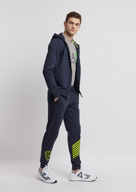 Pure cotton Train 7Lines jogging trousers with logo