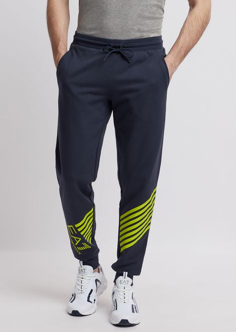 finest selection b64b8 ac2cf Pure cotton Train 7Lines jogging trousers with logo