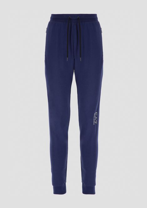 Train Evolution jogging trousers in cotton spandex with reflective details